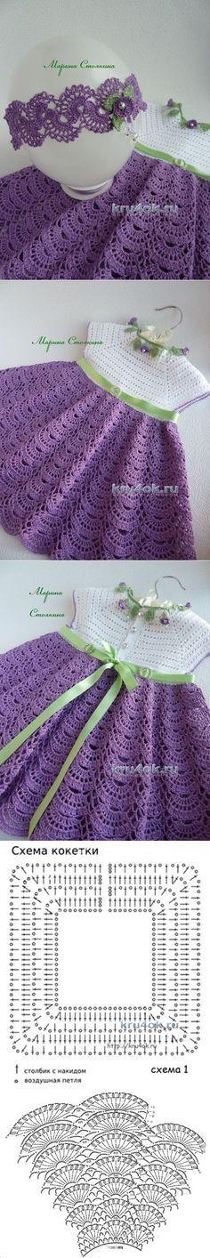 Комплект для девочки — работа Марины Стоякиной - вязание крючком на kru4ok.ru | вяжем детям | Постила