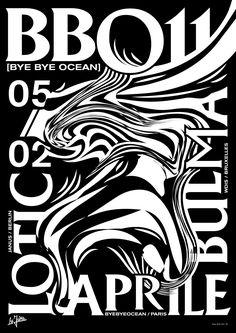 Bye bye ocean n°11 poster, Studio Jimbo, Paris 2016.