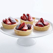Lime and passionfruit tartlets