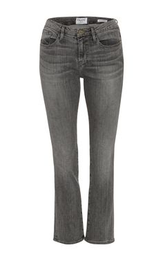 Denim experts **Frame Denim** has crafted these boot cut jeans in a medium wash, grey denim that crops before the ankle. Cropped Jeans, Denim Jeans, Jean Crafts, Frame Denim, Denim Fashion, Black Denim, Stylish, Mini, Boots