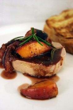 foie gras with fig & peach compote, a little luxury never hurt anyone