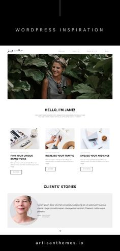 Pepper+ WordPress theme by Artisan Themes | Coach, a chic and modern ready-made site based on Pepper+ WordPress theme for an expert, a coach, an advisor or a freelance designer.