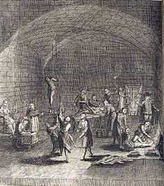 Genocide of the Christian Cathars and Templars by the Catholic church:  Torture Chamber of the Inquisition, c. AD.1736