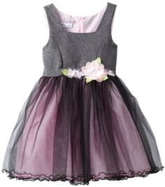 Amazon.com: Bonnie Jean Girls 7-16 Tweed Empire To Tulle Skirt: Clothing