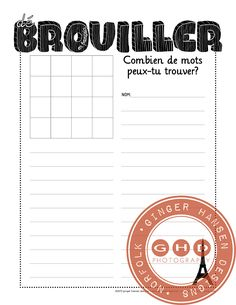 Boggle in French - ginger hansen designs Teaching French Immersion, Ontario Curriculum, French Grammar, Core French, French Classroom, Boggle, French Teacher, Language Activities, Reading Resources