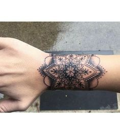 Tatto Ideas & Trends 2017 - DISCOVER Mandala wrist tattoo by Andre Bernal at Death Before Dishonor in San Jose, CA. Tattoos Mandalas, Mandala Wrist Tattoo, Mandala Tattoo Design, Forearm Tattoos, Tattoo Designs, Tattoo Arm, Tattoo Ideas, Tattoo Trends, Trendy Tattoos