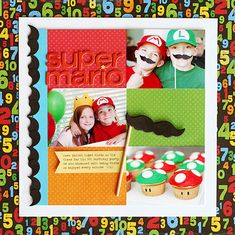 Mario themed birthday party with photo booth. must do.
