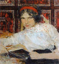 Портрет студентки Маши Быстровой (1917). Николай Фешин