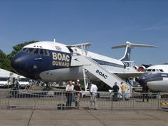 A BOAC Vickers Super VC10 (Series 1150) on display at the Imperial War Museum at RAF Duxford.