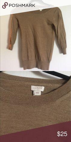 J crew sweater J crew factory crew neck camel sweater. Worn once. Size xxs J.Crew Factory Sweaters Crew & Scoop Necks