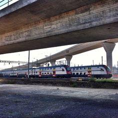 """Parking lot"" for trainsbetween Hardbrücke and Altstetten."