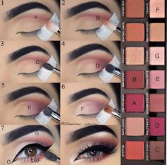 Step by step pictorial makeup look using modern renaissance by @glamorous_reflections