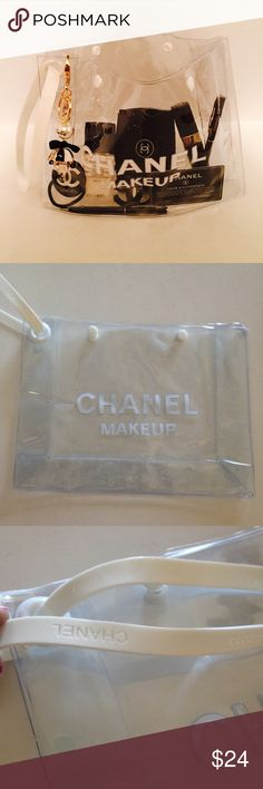 """🌟Chanel makeup bag🌟 LAST ☝️! New- 8x10"""". This is a must have makeup bag. You'll never loose anything in it! Very stylish and easy to use 😊 NO OFFERS THIS IS MY LOWEST CHANEL Bags Cosmetic Bags & Cases"""