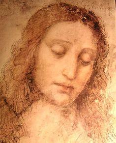 Estudo de Cristo para a Última Ceia, 1500 por Leonardo Da Vinci (1452-1519, Italy)