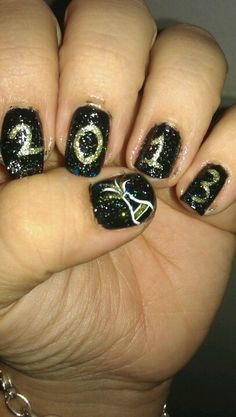 New Year's nail design