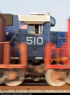 RailPictures.Net Photo: FEC 510 Florida East Coast Railroad (FEC) EMD GP38-2 at Melbourne, Florida by John Doughty