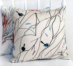 Wrens for my little bird.   Cushion 35x35cm 13.7x13.7in 'Superb Wren in by FormosaDesign, $42.00