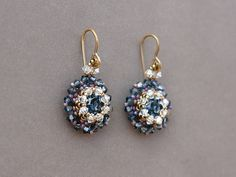 9aa94af06 This beading tutorial will teach you how to bezel an 8mm Swarovski chaton  and make a beautiful pair of earrings. You can also use this bezel to make  a ...