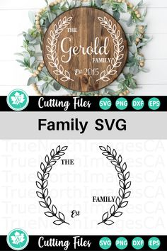 Compatible with vinyl cutting machines such as Cricut and Silhouette Cameo. Great for DIY craft projects such as shirts, mugs, tumblers, and more - Ad Cricut Svg Files Free, Cricut Fonts, Vinyl Projects, Diy Craft Projects, Diy Crafts, Family Name Signs, Family Names, Wood Name Sign, Monogram Signs