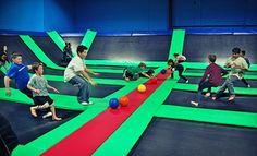 Groupon - Two Hours of Indoor Trampoline Play for Two or Four at Bounce! Trampoline Sports (Up to 52% Off). Groupon deal price: $22.00
