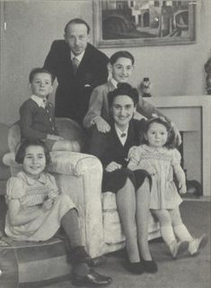 André & Odette Baur with their Children, Paris – Andre (b.18/3/1904) was arrested on July 21 1943 for having denounced SS Brunner's sadistic methods at Drancy. He & Odette (b.29/10/1910) with their children Pierre (b.16/3/1933), Myriam (b.29/6/1934), Antoine (b.14/9/1937) & Francine (b.22/6/1940) were deported on 17 December 1943. They were all murdered at Auschwitz on 20 Dec. 1943