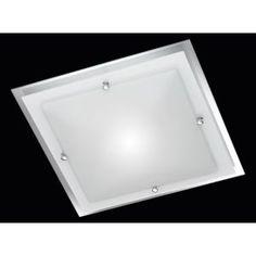 Trio Lighting LED Large Square Ceiling Light in Chrome