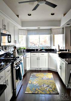 White Kitchen Makeover and Decor Ideas at the36thavenue.com #kitchen