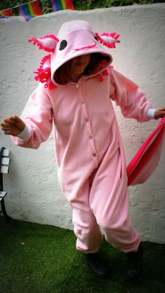 Axolotl onesie by LaWoof on Etsy, £90.00