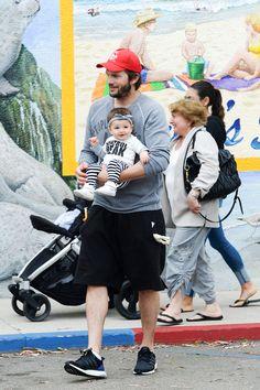 Ashton Kutcher and Mila Kunis's seven month old daughter, Wyatt Isabelle, made her public debut yesterday in Los Angeles. - HarpersBAZAAR.com