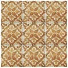 Merola Tile Revival Pattern 7 3 4 In X 7 3 4 In Ceramic