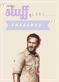 Stuff and thaaangs ~ Rick Grimes ~ The Walking Dead Fan Art