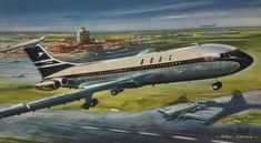 Vickers Vc10, Cool Backdrops, Airfix Kits, Aircraft Interiors, Passenger Aircraft, Aircraft Painting, Cross Art, Fear Of Flying, Vintage Airplanes