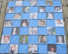 Photo Memory Rag Quilt/ Lap Throw/ Wall Hanging  by MemoriesNThyme, $180.00