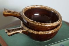 Brown drip glaze pottery of the 60's