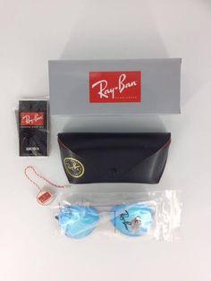 2b32c5ad5f Ray Ban AVIATOR Dark Blue (Mirrored) lenses on black frames UNISEX  fashion