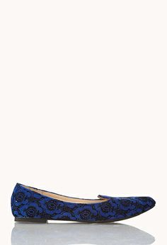 Luxe Velveteen Waverly Print Loafers | FOREVER21 - 2059313900