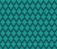 Bohemian Turquoise Quatrefoil fabric by bohemiangypsyjane on Spoonflower - custom fabric