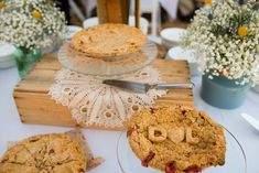 Wedding pie by Grand Traverse Pie Company for Desiree + Levi. Photography by Oden + Janelle Photographers Wedding Pies, Pie Company, Camembert Cheese, Photographers, Photos, Food, Cake Wedding, Pictures, Essen