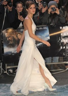 Emma Watson at the premiere of 'Noah' held at the Odeon Leicester Square in London, England, on March 31, 2014