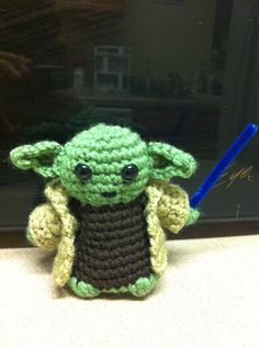 Yoda  Star Wars Mini Amigurumi  Custom Made Crochet by LuvKnotz, $15.00