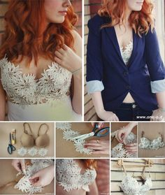 21 Incredible Bra Hacks Because We've Got Your Back Diy Clothing, Sewing Clothes, Bh Tricks, Diy Fashion, Ideias Fashion, Fast Fashion, Old Bras, Bra Hacks, Diy Vetement