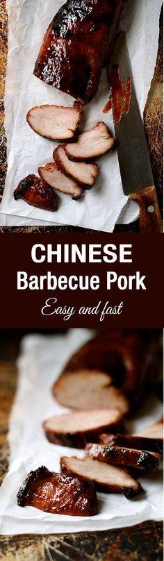 Char Siu (cerdo a la barbacoa chino) - tan fácil de hacer en casa en el horno, y usted puede conseguir todos los ingredientes en el supermercado.