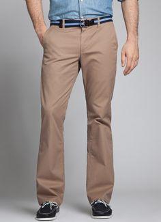 Bootcut khaki jeans