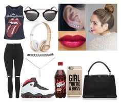 """Today"" by lovelyboo-xoxo on Polyvore featuring Topshop, Louis Vuitton, Wet Seal, Casetify, Christian Dior and Beats by Dr. Dre"