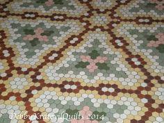 Hexagon Floor Tiles in 100+ Year Old Hotel