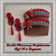 CONJUNTOS | Carali´s. Flamenco y Complementos. Crochet Hair Clips, Crochet Hair Styles, Wire Wrapping Tutorial, Oriental, Tapestry Crochet, Blouse Designs, Jewelery, Wraps, Hair Accessories