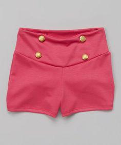 Look what I found on #zulily! Fuchsia Button Shorts by Sinai Kids #zulilyfinds