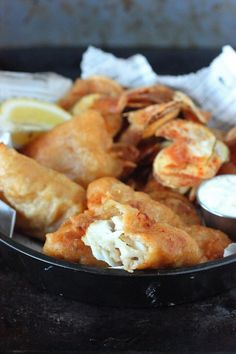 Super easy, delicious, and crispy Beer Battered Fish & Chips.