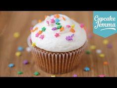 The Perfect Vanilla Cupcake Recipe   Cupcake Jemma - YouTube