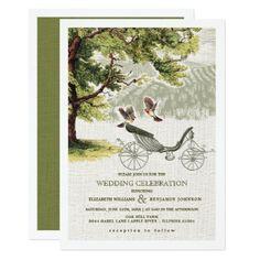 Oak Tree   Wedding Carriage Wedding Invitations - wedding invitations cards custom invitation card design marriage party